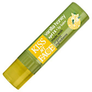 Kiss My Face Vanilla  Honey Lip Balm with Organic Ingredients - SPF 15