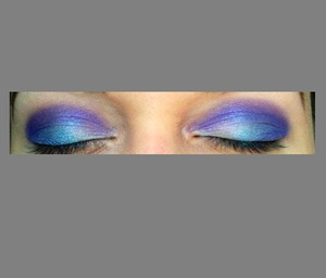 Got bored blue and purple eyes unfinished