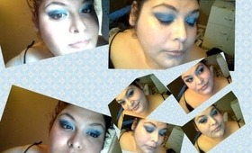 make up of the day 3 blues marykay eyeshadows