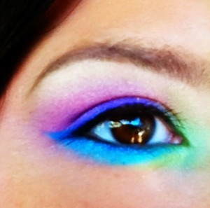 80's week at my work my make up for the day!