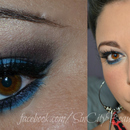 Blue Brown Smokey eye