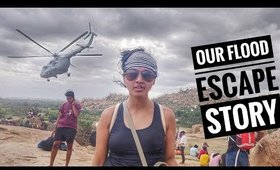 Story Time - Our Flood Escape in Karnataka Hampi Floods || SuperWowStyle Vlog
