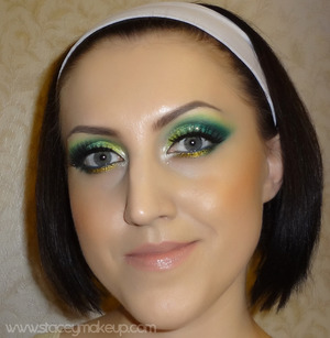 """Emerald Glow"" http://www.staceymakeup.com/2012/03/tutorial-emerald-green.html"