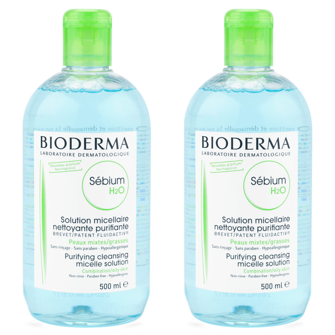 Bioderma Sébium H2O 500 ml Duo product swatch.