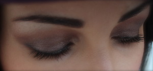 """Smokey eye done in brown...using UD shadow pencil in """"Rehab"""" with MAC """"cranberry"""" in the crease. See more at http://thedressychick.com"""