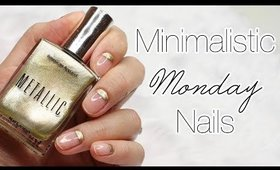 Minimalistic Monday No. 26   Gold Cuticles Nail Art ♡