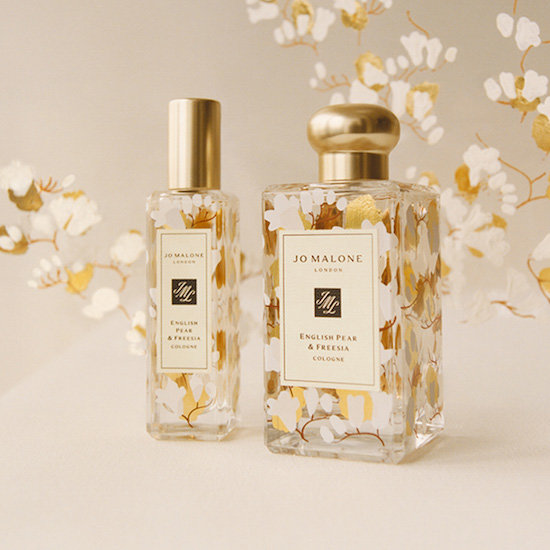 Alternate product image for Limited Edition English Pear & Freesia Decorated Cologne shown with the description.