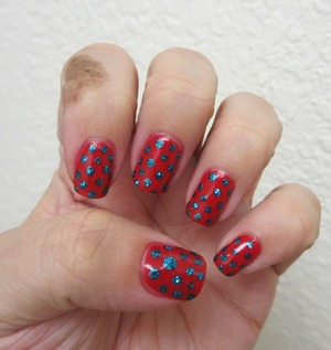 Orly Monroe 's Red and Deborah Lippmann Just Dance