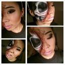 skull/glam/zombie look