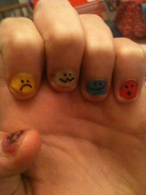 Awesome emoticon nails