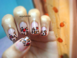 simply adorable http://mypolish100.blogspot.in/2013/02/valentines-day-nails.html