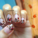 cutepolish inspired Valentine's Day Leopard Nails!!