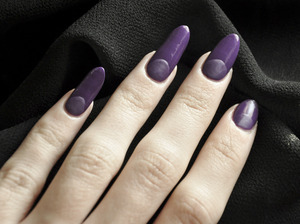 Nails American Apparel in African Violet Revlon top coat NYC in Matte Me Crazy! Mattifying Top Coat  More info here: http://bit.ly/V3ahf0