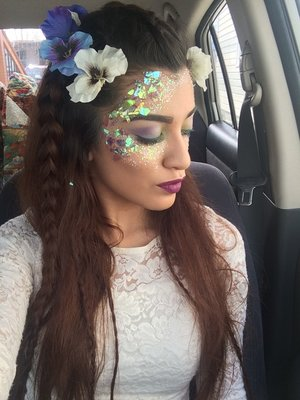 Today's photoshoot I had to create a fairy inspired look and this is what I came up with.