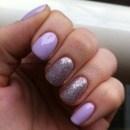 Essie with LA Girl Glitter