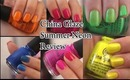 China Glaze Summer Neon 2012 Nail  (Swatches and Review )