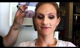 Shimmery Smoke Makeup Look