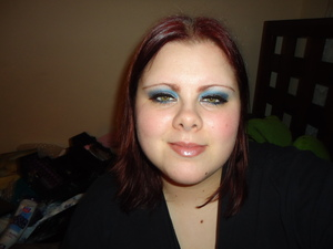Blueish Silver Holiday Look.