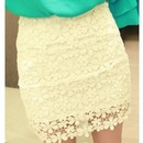 White Highwaisted Mini Skirt