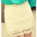 White Highwaisted Mini Skirt