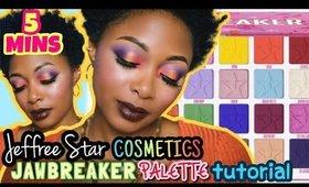 MAKEUP IN 5 MINUTES: Jeffree Star Cosmetics Jawbreaker Palette