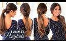 Cute Summer Ponytails | Luxy Hair