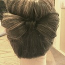 Hair Bun w/ Hair Bow
