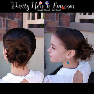 How to do a low side Messy Bun