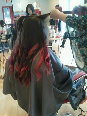 My sister's new hair.