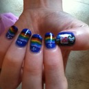 nyan cat nailart