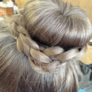 braided ballet sock bun