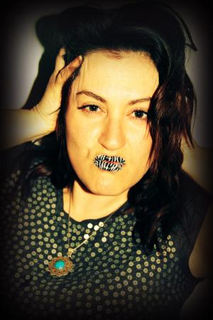 Some Zebra Print Violent Lips