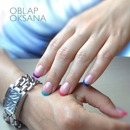 Color french nail art
