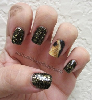 Deborah Lippmann Cleopatra In New York and random snake print I cut out of a magazine