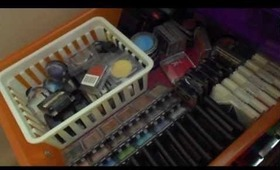 updated makeup collection and storage