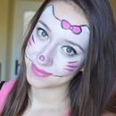 Halloween makeup: Hello Kitty