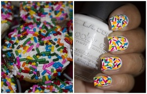 http://www.bellezzabee.com/2013/07/cupcake-sprinkles-nail-art.html
