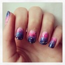 Just random nails, with glitter