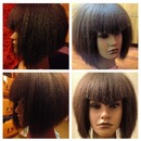 Graduated a line bob on mannequin!