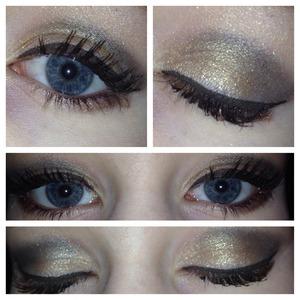 Using:  UD Naked 2 Palette,  MUFE Smokey Extravagant Mascara, Sephora Liquid Eyeliner in Dark Brown(?)