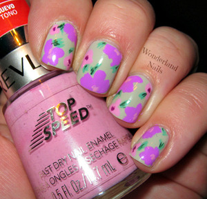 For more info please visit my blog http://wonderland-nails.blogspot.com/2013/07/hawaiian-style-flowers.html