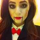 Saw puppeteer makeup
