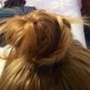 braid accented bun :)