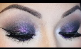 Purple Glittery Smokey Eye Tutorial ♡ MAC Young Punk