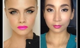 BEAUTY BY BEVERLY: Cara Delevigne Inspired Makeup