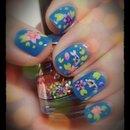 Koi Pond Jelly Nails Left Hand