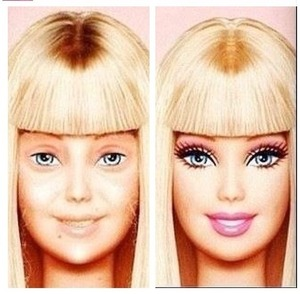 Barbie without make-up, it's the imperfection that make us beautiful. Inside and out ❤