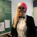 "Lady GaGa ""Born This Way"" Skeleton Makeup"