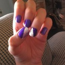 Violet and Tin Diagonal tip