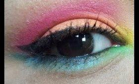 Colorful smokey eye ft sleek